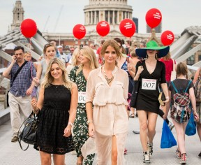 The Princes Trust Sunday Strut with MIC's Millie Mackintosh. Wearing a cute Pussycat London crochet dress