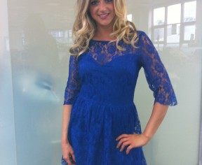 Keeping it blue in gorgeous Lipsy for The Wright Stuff